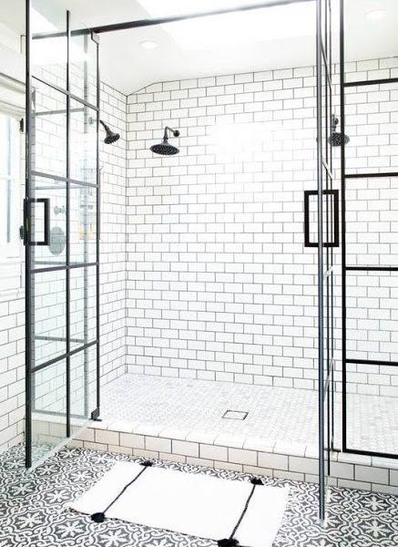 Czarno-biała łazienka - inspiracje